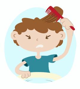 Se peigner les cheveux contre les poux
