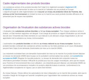 les biocides et leur réglementation